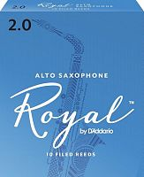 D`ADDARIO WOODWINDS RJB1020 ROYAL, ALTO SAX, #2, 10 BX