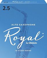 D`ADDARIO WOODWINDS RJB1025 ROYAL, ALTO SAX, #2.5, 10 BX